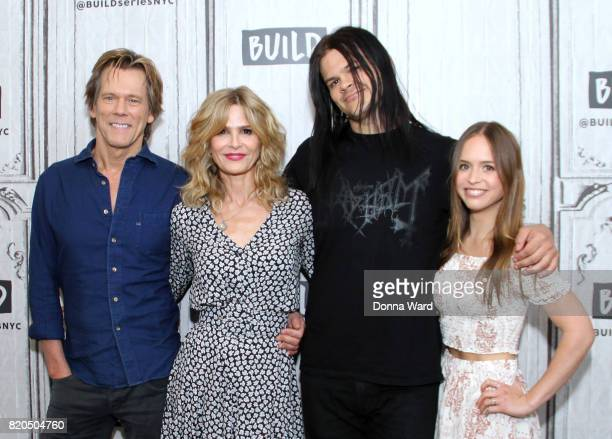 Kevin Bacon Kyra Sedgwick Travis Bacon and Ryann Shane appears to promote 'Story of a Girl' during the BUILD Series at Build Studio on July 21 2017...