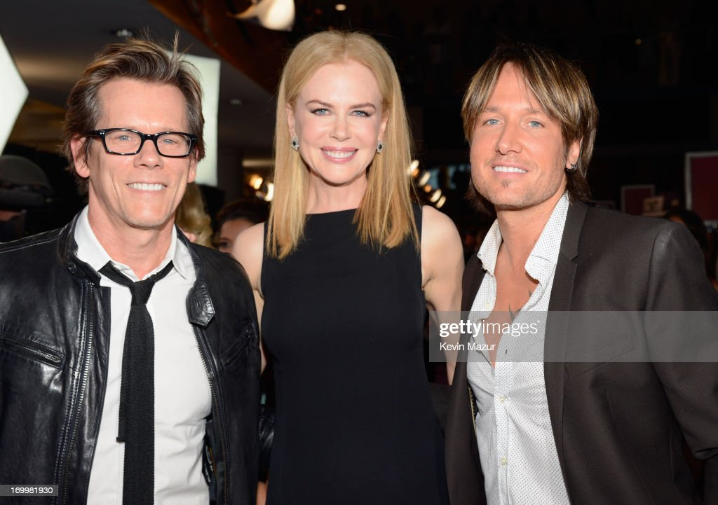 Kevin Bacon, Nicole Kidman and Keith Urban attend the 2013 CMT Music awards at the Bridgestone Arena on June 5, 2013 in Nashville, Tennessee.