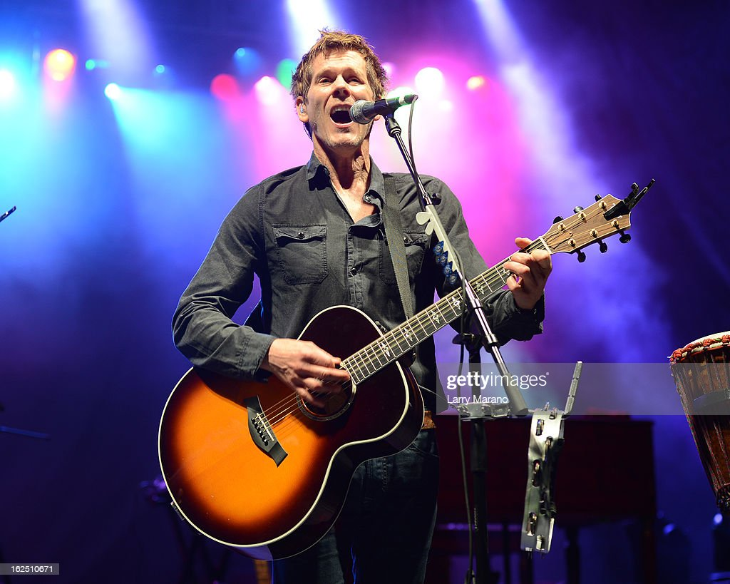 Kevin Bacon of The Bacon Brothers performs during the Bacon Festival at Seminole Casino Coconut Creek on February 23, 2013 in Coconut Creek, Florida.