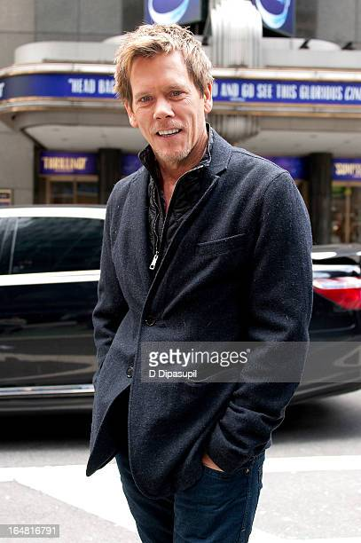 Kevin Bacon visits 'Extra' in Times Square on March 28 2013 in New York City