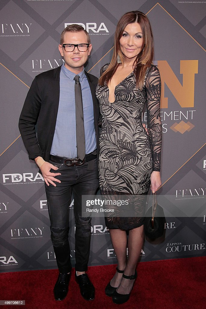 Kevin Bailey and Melissa Costa attend the 29th FN Achievement Awards at IAC Headquarters on December 2, 2015 in New York City.