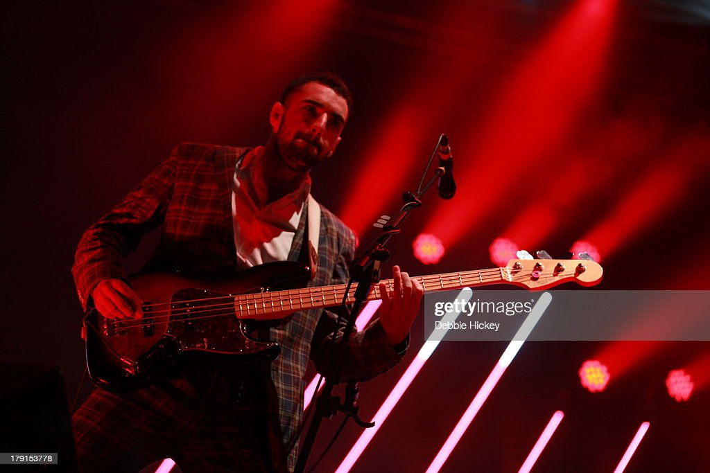 Kevin Baird of Two Door Cinema Club performs at Day 2 of Electric Picnic at Stradbally Hall Estate on August 31, 2013 in Dublin, Ireland.