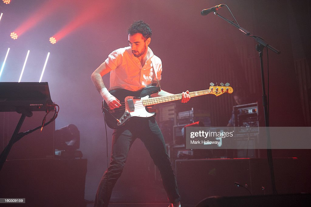 Kevin Baird of Two Door Cinema Club performs in Southampton at Southampton Guildhall on January 28, 2013 in Southampton, England.