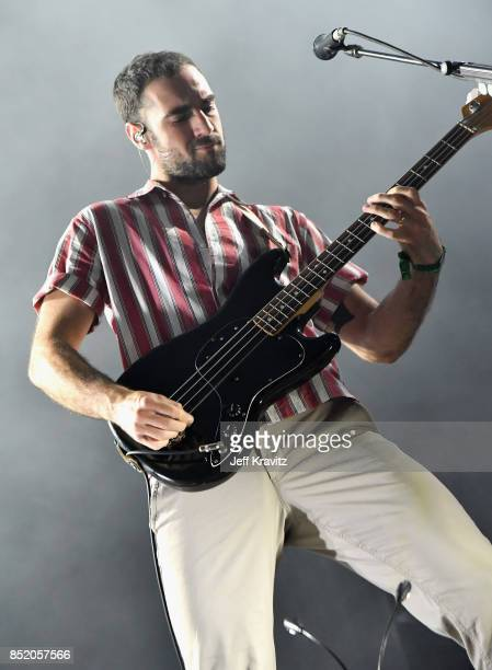 Kevin Baird of Two Door Cinema Club performs on Downtown Stage during day 1 of the 2017 Life Is Beautiful Festival on September 22 2017 in Las Vegas...