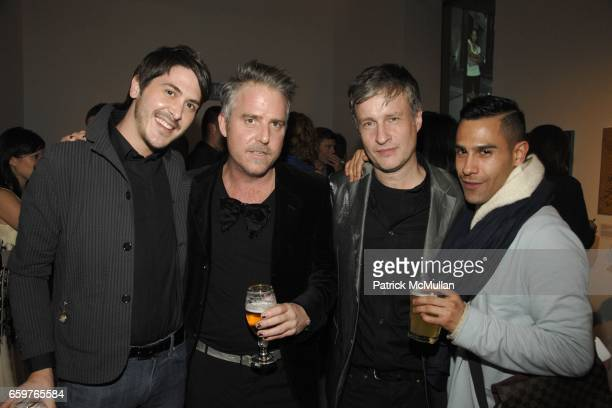 Kevin Baker Lee Mack Donald Baechler and Willy Hernandez attend ARTWALKNY benefiting COALITION FOR THE HOMELESS at Skylight Studio on November 17...