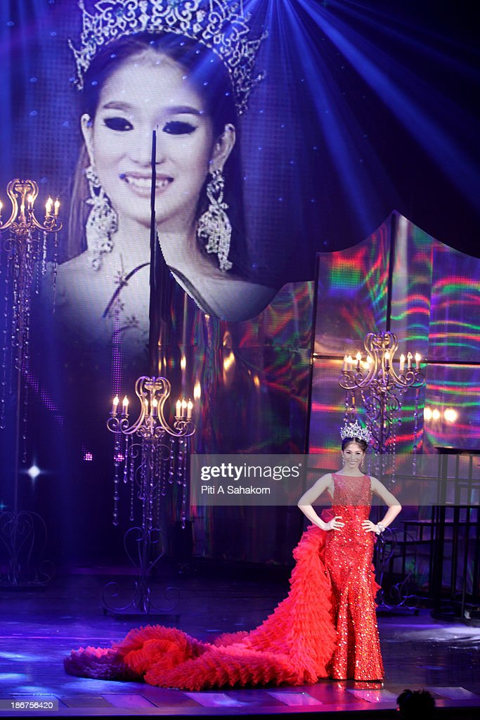 Kevin Balot , Miss International Queen 2012 posing on stage in the transvestite and transgender beauty pageant Miss International Queen 2013 at Tiffany's Show theatre in Pattaya city. Twenty-five contestants from 17 countries are participating in the event, which is endowed with prize money of 300,000 Thai baht (10,000 US dollars), a crown with real gems and a free surgery at a plastic surgery clinic in Bangkok..