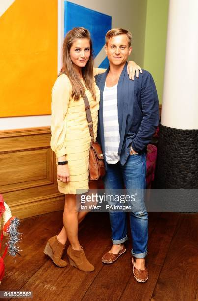 Kevin Bishop and wife Casta arrive at a screening for new film A Few Best Men at the Soho Hotel in London
