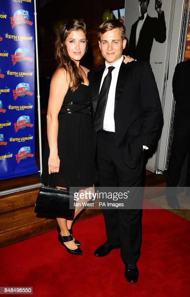 Kevin Bishop and wife Casta arrive at the afterparty following the UK premiere of the new film Keith Lemon The Film at Planet Hollywood on Monday...