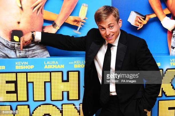 Kevin Bishop arriving for the UK Premiere of Keith Lemon The Film at the Vue West End London