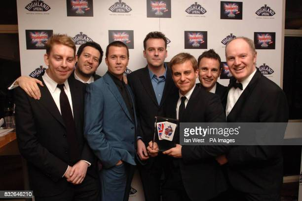 Kevin Bishop holds the award for Star Stories which won Britain's Best New TV Comedy at the British Comedy Awards 2006 at the London Studios in south...
