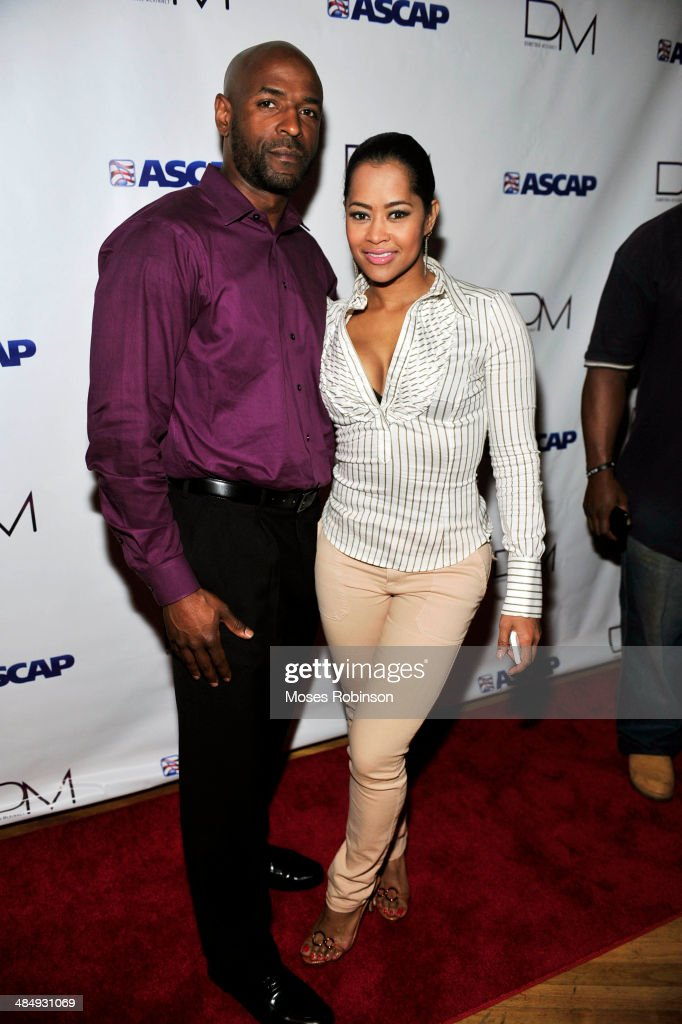 Kevin Blakely and actress Lisa Wu Hartwell attends Demetria McKinney's 'Officially Yours' Listening Session at Tree Sound Studios on April 14 2014 in...