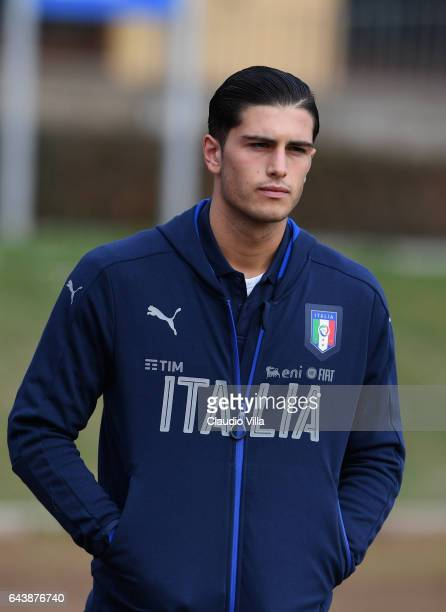 Kevin Bonifazi of Italy looks on prior to the training session at the club's training ground at Coverciano on February 22 2017 in Florence Italy