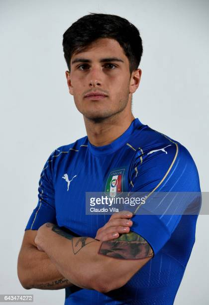 Kevin Bonifazi of Italy poses during the official portrait session at Coverciano on February 21 2017 in Florence Italy