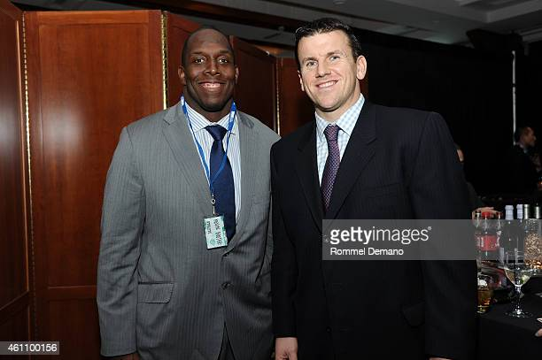 Kevin Boothe and Chris Snee attend MDA's 18th Annual Muscle Team Gala at Pier 60 on January 6 2015 in New York City