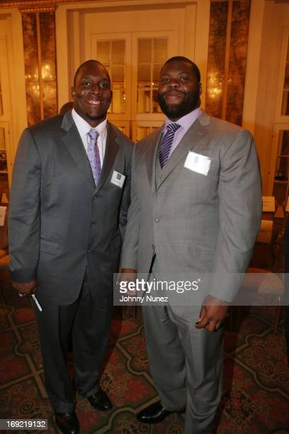 Kevin Boothe and Linval Joseph attend the 20th annual Gridiron Gala at Waldorf Astoria Hotel on May 21 2013 in New York City