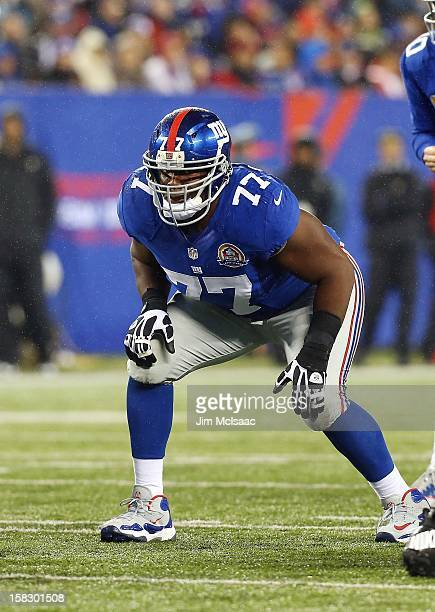 Kevin Boothe of the New York Giants in action against the New Orleans Saints at MetLife Stadium on December 9 2012 in East Rutherford New Jersey The...