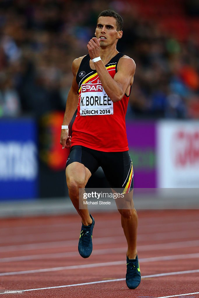 <a gi-track='captionPersonalityLinkClicked' href=/galleries/search?phrase=Kevin+Borlee&family=editorial&specificpeople=2132831 ng-click='$event.stopPropagation()'>Kevin Borlee</a> of Belgium competes in the Men's 400 metres semi-final during day two of the 22nd European Athletics Championships at Stadium Letzigrund on August 13, 2014 in Zurich, Switzerland.