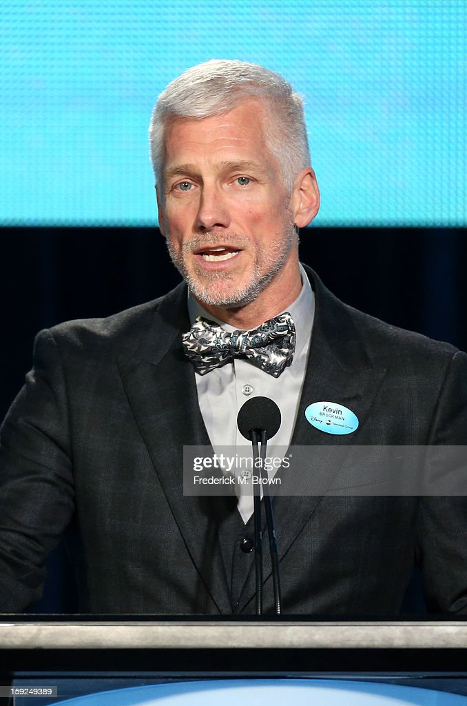 Kevin Brockman, Executive Vice President of Global Communications, Disney/ABC, speaks onstage during the ABC portion of the 2013 Winter TCA Tour at Langham Hotel on January 10, 2013 in Pasadena, California.