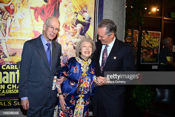 Kevin Brownlow Carla Laemmle and Ron Chaney attend The Academy of Motion Picture Arts and Sciences' screening of 'The Phantom Of The Opera' at AMPAS...