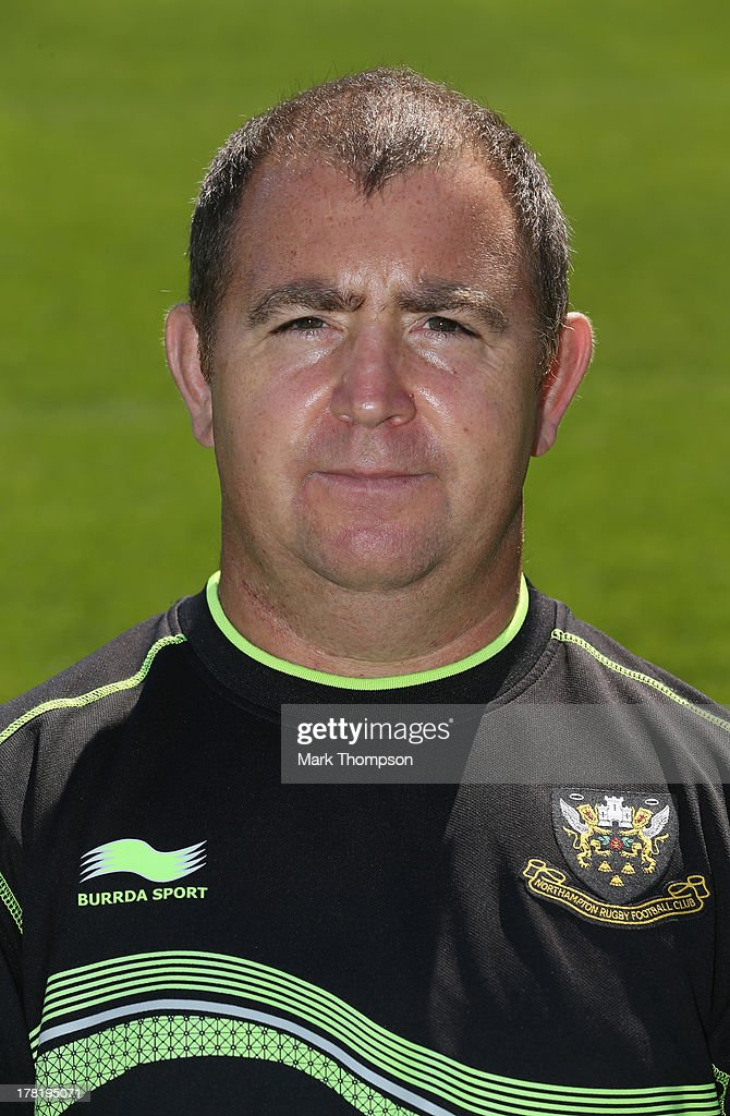 Kevin Buckby equipment manager for Northampton Saints senior academy poses for a portrait at Franklin's Gardens on August 27, 2013 in Northampton, England.