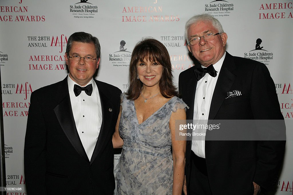 Kevin Burke Marlo Thomas and Phil Donahue during 28th Annual American Image Awards Arrivals at Hyatt in New York City New York United States