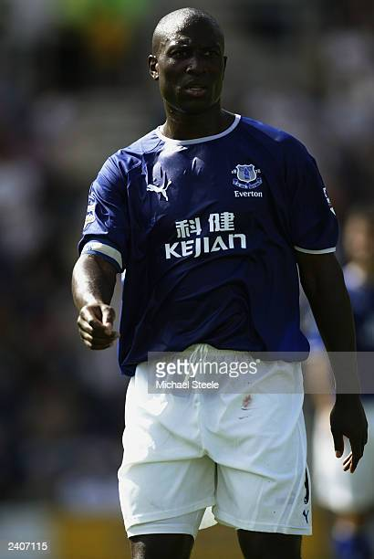 Kevin Campbell of Everton in action during the Friendly match between Preston North End and Everton on August 2 2003 at Deepdale in Preston England...