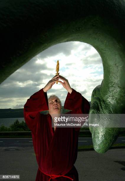 Kevin Carlyon High Priest of the British Coven of White Witches was casting spells in a bid to lure the Loch Ness monster out into the open He was...