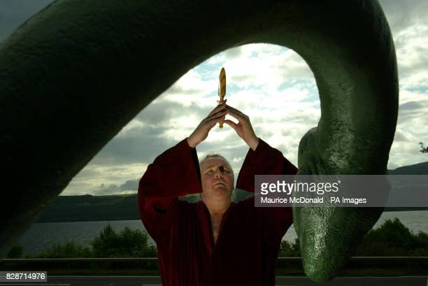 Kevin Carlyon High Priest of the British Coven of White Witches was casting spells in a bid to lure the Loch Ness monster out into the open *He was...