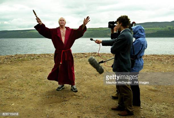 Kevin Carlyon High Priest of the British Coven of White Witches was casting spells in a bid to lure the Loch Ness monster out into the open * He was...
