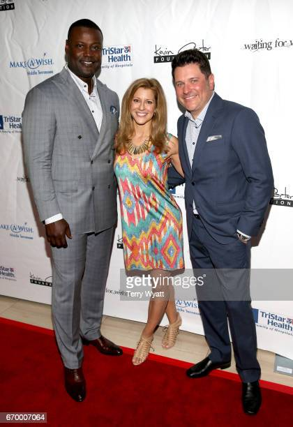 Kevin Carter Bonnie Bernstein and Jay DeMarcus attend the 16th Annual Waiting for Wishes Celebrity Dinner Hosted by Kevin Carter Jay DeMarcus on...