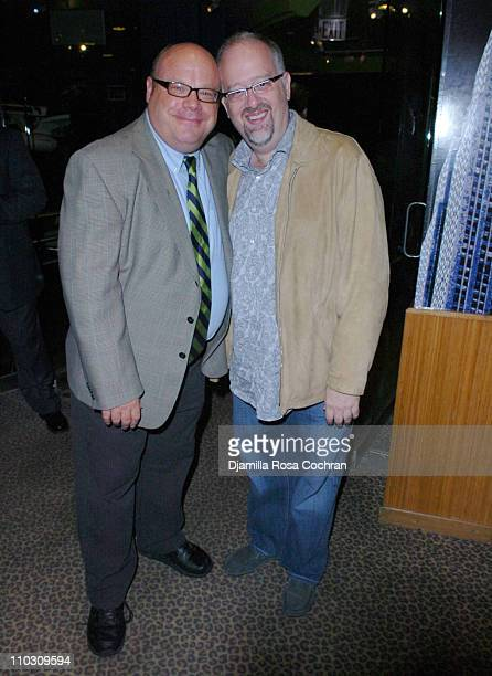 Kevin Chamberlin and Doug Wright attend the After Party of 'The Ritz' Broadway Opening Night at Planet Hollywood on October 12 2007 in New York City...