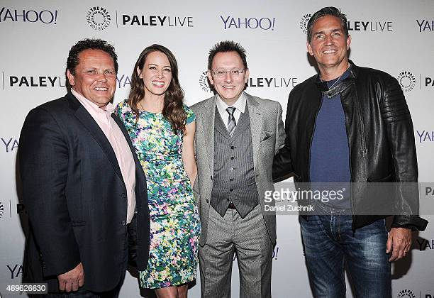 Kevin Chapman Amy Acker Michael Emerson and Jim Caviezel attend The Paley Center For Media Hosts An Evening With 'Person Of Interest' at The Paley...