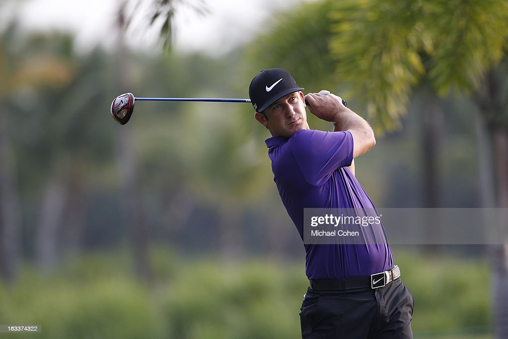 <a gi-track='captionPersonalityLinkClicked' href=/galleries/search?phrase=Kevin+Chappell&family=editorial&specificpeople=5744934 ng-click='$event.stopPropagation()'>Kevin Chappell</a> hits his drive on the second hole during the second round of the Puerto Rico Open presented by seepuertorico.com held at Trump International Golf Club on March 8, 2013 in Rio Grande, Puerto Rico.