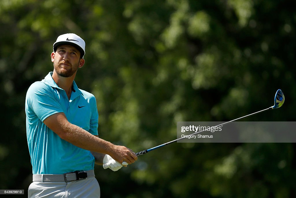 <a gi-track='captionPersonalityLinkClicked' href=/galleries/search?phrase=Kevin+Chappell&family=editorial&specificpeople=5744934 ng-click='$event.stopPropagation()'>Kevin Chappell</a> hits off the third tee during the first round of the World Golf Championships - Bridgestone Invitational at Firestone Country Club South Course on June 30, 2016 in Akron, Ohio.