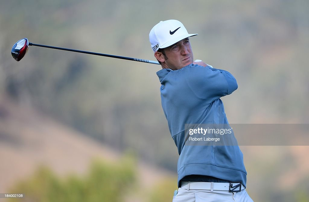 <a gi-track='captionPersonalityLinkClicked' href=/galleries/search?phrase=Kevin+Chappell&family=editorial&specificpeople=5744934 ng-click='$event.stopPropagation()'>Kevin Chappell</a> makes a tee shot on the ninth hole during round one of the Frys.com Open at the CordeValle Golf Club on October 10, 2013 in San Martin, California.
