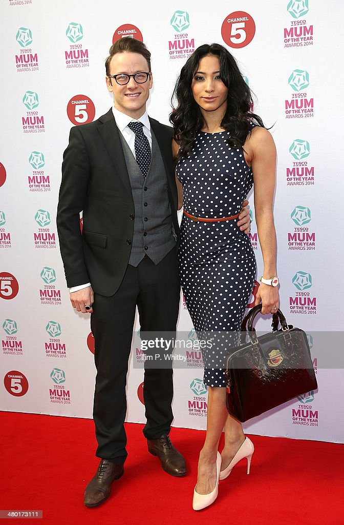 Kevin Clifton and Karen Hauer attend the Tesco Mum of the Year awards at The Savoy Hotel on March 23, 2014 in London, England.