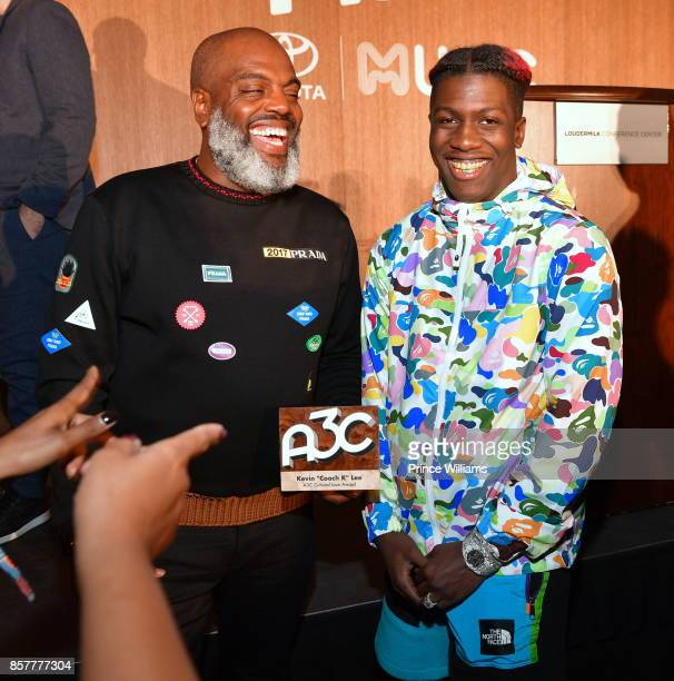 Kevin 'Coach K' Lee and Lil Yachty attend A3C Welcome To Atlanta Reception at the Loudermilk Conference Center on October 4 2017 in Atlanta Georgia