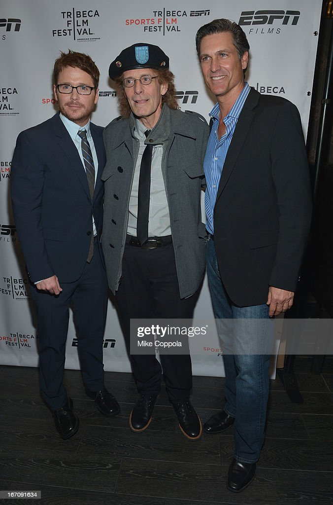 <a gi-track='captionPersonalityLinkClicked' href=/galleries/search?phrase=Kevin+Connolly&family=editorial&specificpeople=206759 ng-click='$event.stopPropagation()'>Kevin Connolly</a>, Michael Rudman, and Mark Ciardi attend the ESPN Sports Film Festival Gala: 'Big Shot' after party during the 2013 Tribeca Film Festival on April 19, 2013 in New York City.