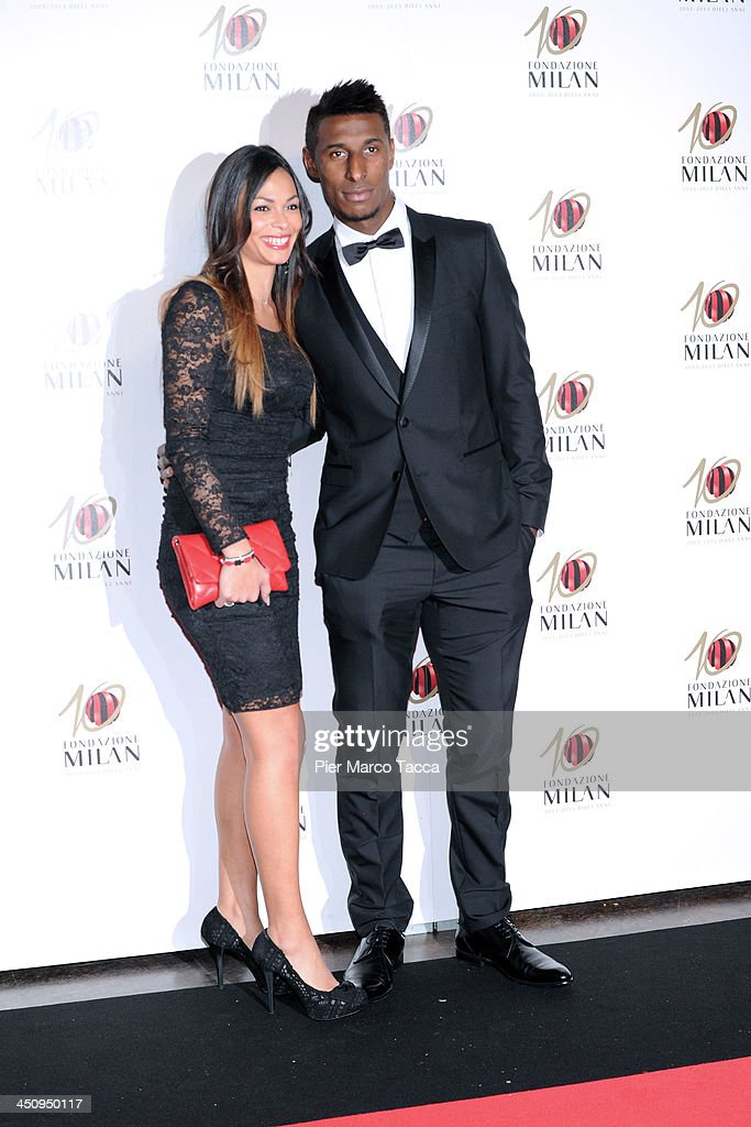<a gi-track='captionPersonalityLinkClicked' href=/galleries/search?phrase=Kevin+Constant&family=editorial&specificpeople=3033289 ng-click='$event.stopPropagation()'>Kevin Constant</a> (R) and his girlfriend Sonia attend the Fondazione Milan 10th Anniversary Gala photocall on November 20, 2013 in Milan, Italy.