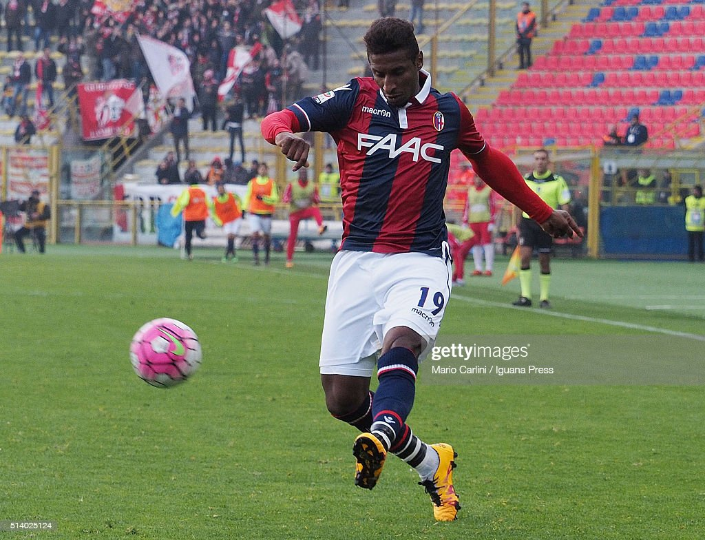 <a gi-track='captionPersonalityLinkClicked' href=/galleries/search?phrase=Kevin+Constant&family=editorial&specificpeople=3033289 ng-click='$event.stopPropagation()'>Kevin Constant</a> # 19 of Bologna FC in action during the Serie A match between Bologna FC and Carpi FC at Stadio Renato Dall'Ara on March 6, 2016 in Bologna, Italy.