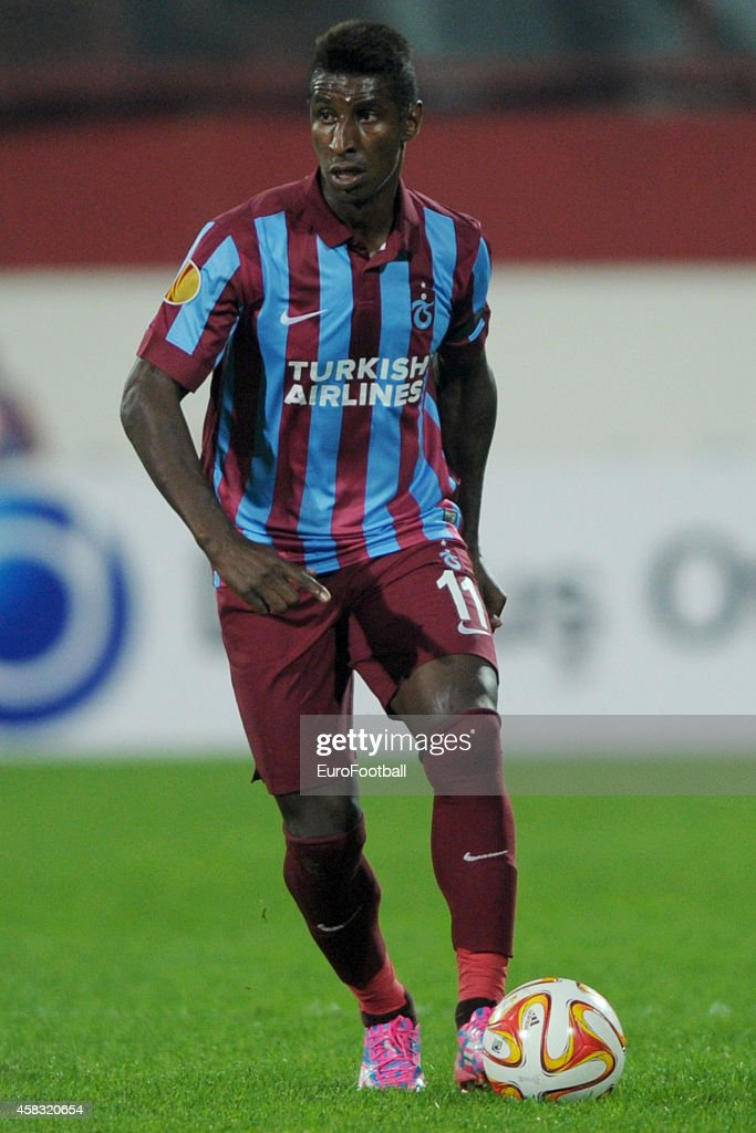 <a gi-track='captionPersonalityLinkClicked' href=/galleries/search?phrase=Kevin+Constant&family=editorial&specificpeople=3033289 ng-click='$event.stopPropagation()'>Kevin Constant</a> of Trabzonspor AS in action during the UEFA Europa League Group L match between Trabzonspor AS and Legia Warszawa at the Hüseyin Avni Aker Stadium on October 2, 2014 in Trabzon,Turkey.