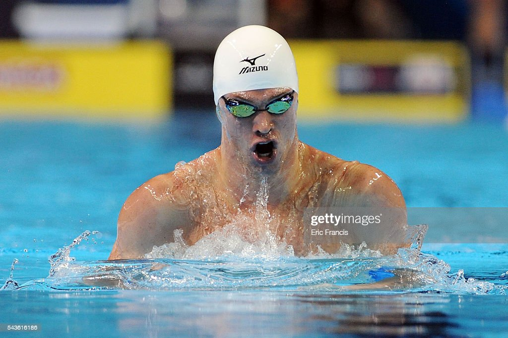 <a gi-track='captionPersonalityLinkClicked' href=/galleries/search?phrase=Kevin+Cordes&family=editorial&specificpeople=10030815 ng-click='$event.stopPropagation()'>Kevin Cordes</a> competes in a preliminary heat of the Men's 200 Meter Breaststroke during Day 4 of the 2016 U.S. Olympic Team Swimming Trials at CenturyLink Center on June 29, 2016 in Omaha, Nebraska.