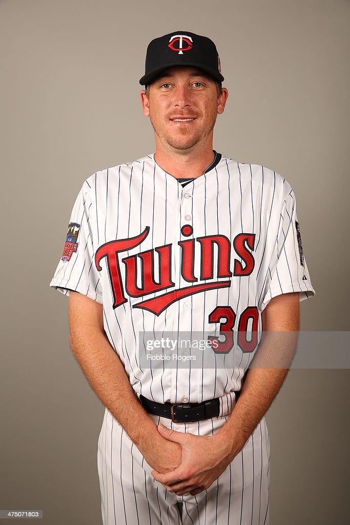Kevin Correia of the Minnesota Twins poses during Photo Day on Tuesday February 25 2014 at Hammond Stadium in Fort Myers Florida