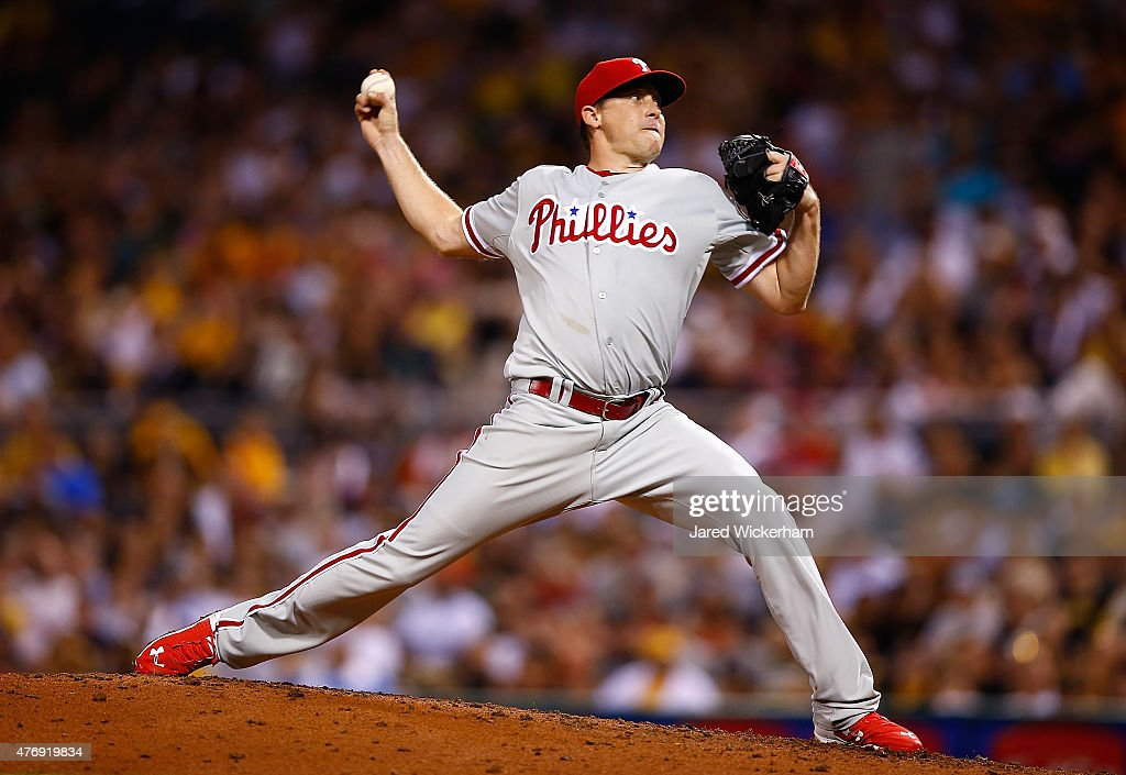 Kevin Correia of the Philadelphia Phillies pitches in the second inning against the Pittsburgh Pirates during the game at PNC Park on June 12 2015 in...