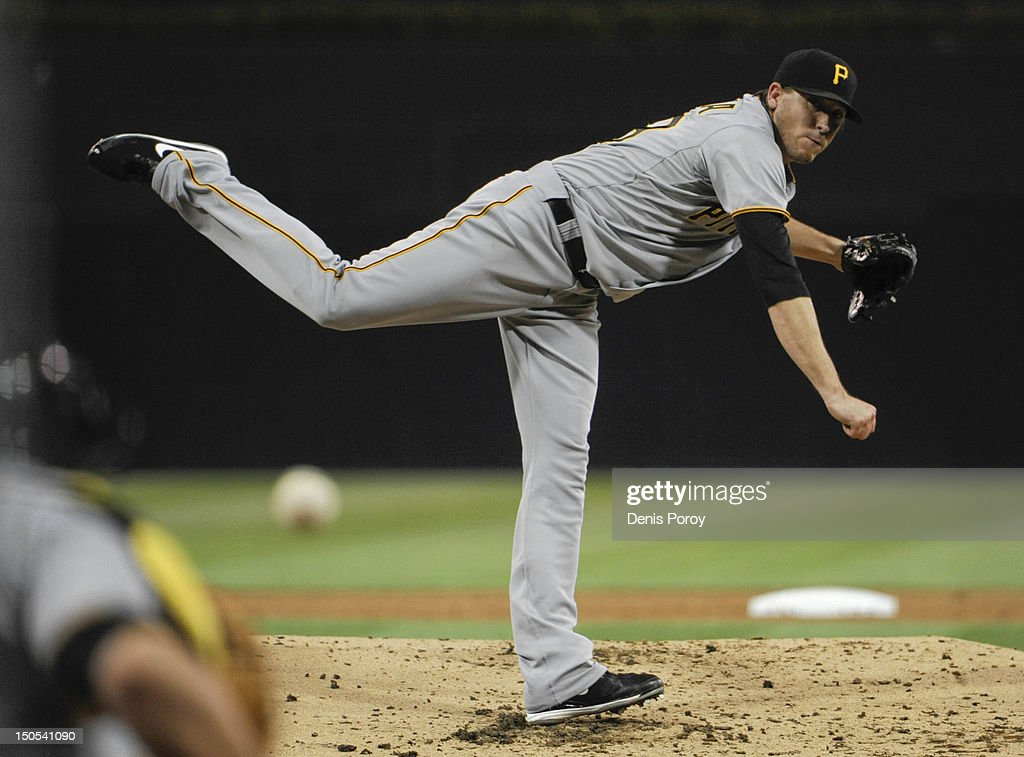 <a gi-track='captionPersonalityLinkClicked' href=/galleries/search?phrase=Kevin+Correia&family=editorial&specificpeople=534607 ng-click='$event.stopPropagation()'>Kevin Correia</a> #29 of the Pittsburgh Pirates pitches during the second inning of a baseball game against the San Diego Padres at Petco Park on August 20, 2012 in San Diego, California.