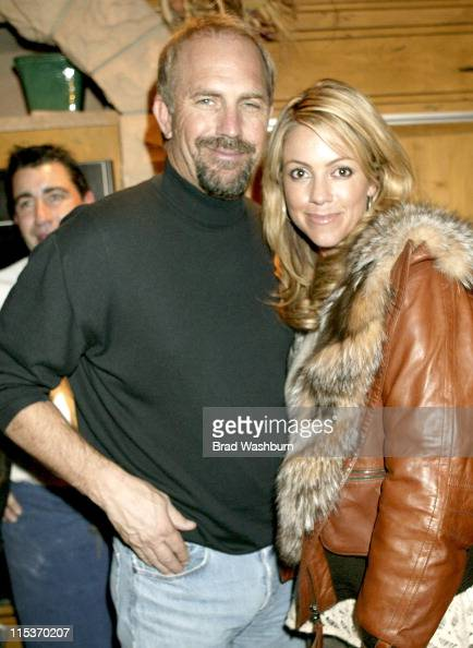 Kevin Costner and Christine Costner during 2005 Sundance Film Festival 'Ringers Lord of the Fans' Cast and Fan Party in Park City Utah United States