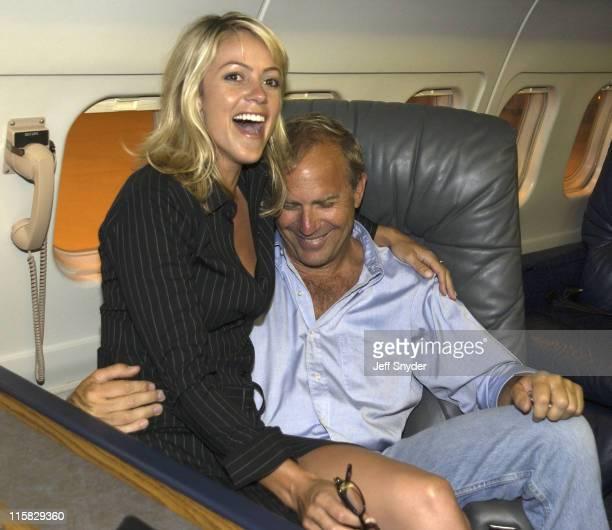 Kevin Costner and fiancee Christine Baumgartner *Exclusive*