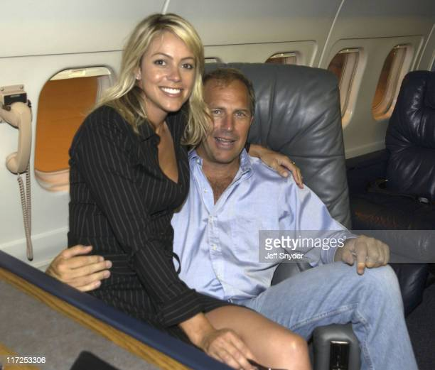 Kevin Costner and fiancee Christine Baumgartner *Exclusive*
