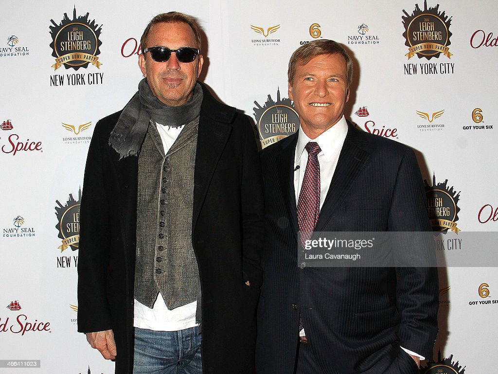 <a gi-track='captionPersonalityLinkClicked' href=/galleries/search?phrase=Kevin+Costner&family=editorial&specificpeople=201719 ng-click='$event.stopPropagation()'>Kevin Costner</a> and <a gi-track='captionPersonalityLinkClicked' href=/galleries/search?phrase=Leigh+Steinberg&family=editorial&specificpeople=221448 ng-click='$event.stopPropagation()'>Leigh Steinberg</a> attend the 2014 <a gi-track='captionPersonalityLinkClicked' href=/galleries/search?phrase=Leigh+Steinberg&family=editorial&specificpeople=221448 ng-click='$event.stopPropagation()'>Leigh Steinberg</a> Super Bowl Party at 230 Fifth Avenue on February 1, 2014 in New York City.