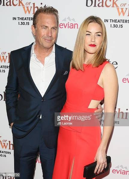 Kevin Costner and Lily Costner attend the Los Angeles premiere of 'Black or White' held at Regal Cinemas on January 20 2015 in Los Angeles California